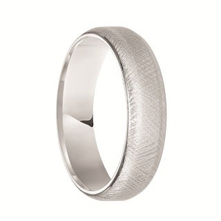 EATON Beveled White Tungsten Ring with Florentine Finish by Triton Rings - 6 mm