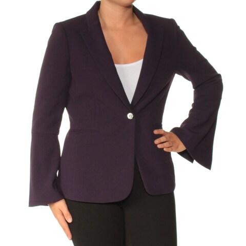 Womens Purple Wear To Work Blazer Jacket Size 6