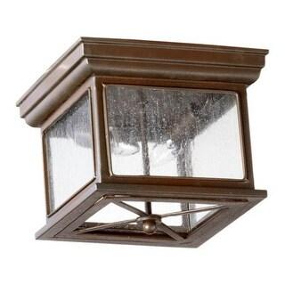 Quorum International 3043-11 Magnolia 2 Light Flushmount Outdoor Ceiling Fixture