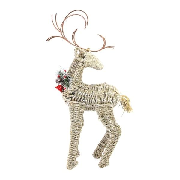 "27"" Reindeer Facing Backwards Twine Christmas Figure"