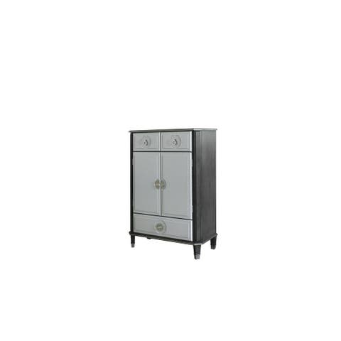 ACME Beatrice Chest in Charcoal and Pearl White Finish