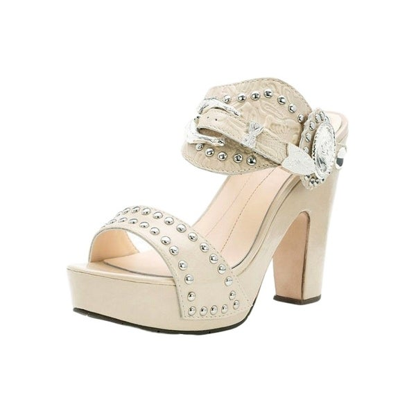 YK Branded Western Shoes Womens Alpha Mare Take Me Away Ivory
