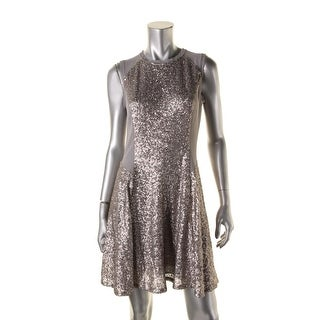 Rachel Rachel Roy Womens Sequined Sleeveless Party Dress