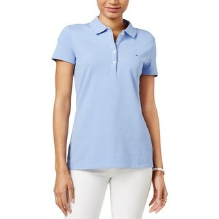 Tommy Hilfiger Womens Polo Top Pique Short Sleeves