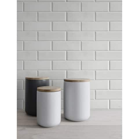 NextWall Subway Tile Peel and Stick Removable Wallpaper - 20.5 in. W x 18 ft. L