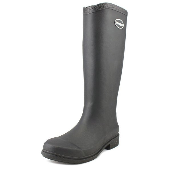 Havaianas Galochas Low Women W Round Toe Synthetic Black Rain Boot
