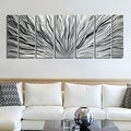 Statements2000 Silver Etched Modern Metal Wall Art Sculpture by Jon Allen - Silver Plumage - Thumbnail 1