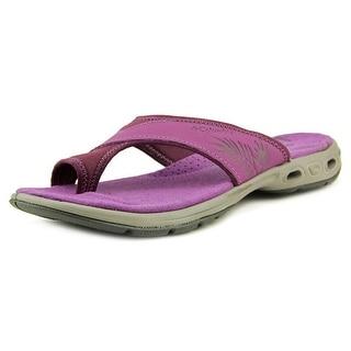Columbia Kea Vent Women Open Toe Leather Purple Flip Flop Sandal