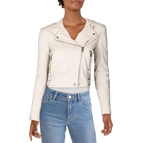 IRO Womens Ashville Jacket Leather Winter - Ivory