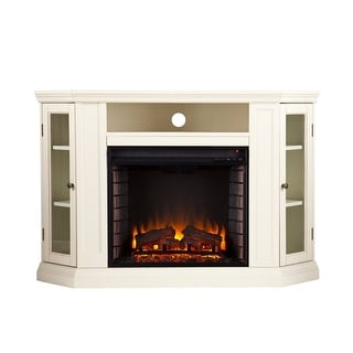 Southern Enterprises FE9314 Claremont Convertible Media Electric Fireplace - Ivory