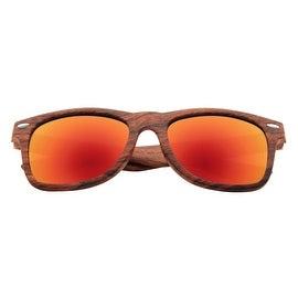 Zodaca Unisex 53-mm Rose Wood Frame 100% UV Protection Sunglass Eyewear