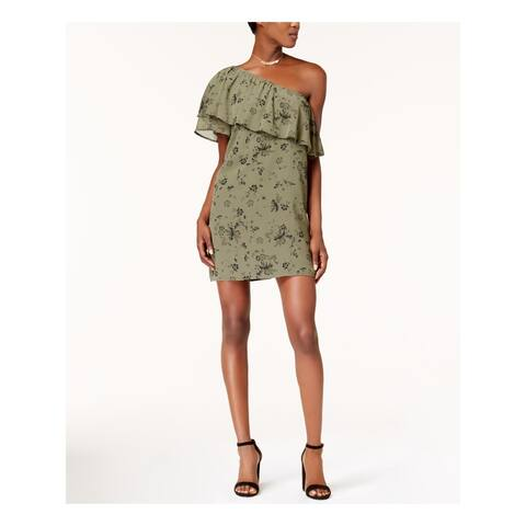 KENSIE Green Short Sleeve Mini Dress S
