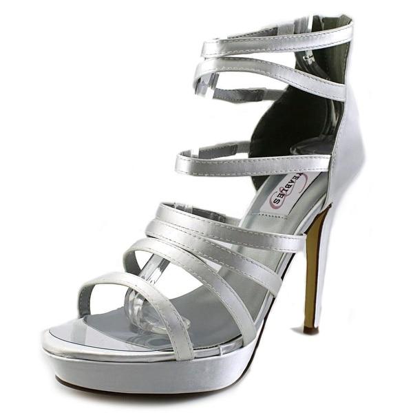 Dyeables Lola Women  Open Toe Canvas White Platform Sandal