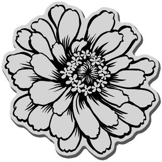 """Stampendous Cling Stamp 3.5""""X4"""" -Zinnia"""