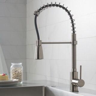 Kraus KPF-1612 Commercial Pulldown Kitchen Faucet w/ Soap Dispenser