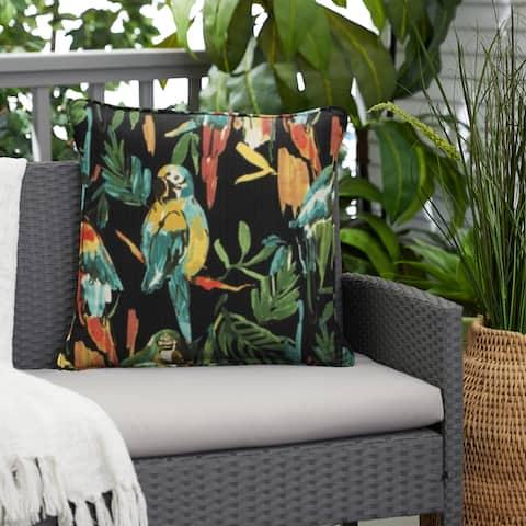 Indoor/Outdoor Develin Hightown Amazon Single Corded Square Pillow