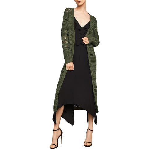 BCBG Max Azria Womens Cardigan Sweater Open Front Long Sleeves