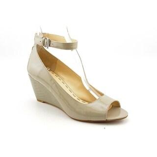 Enzo Angiolini Qamra Women Open Toe Patent Leather Wedge Heel
