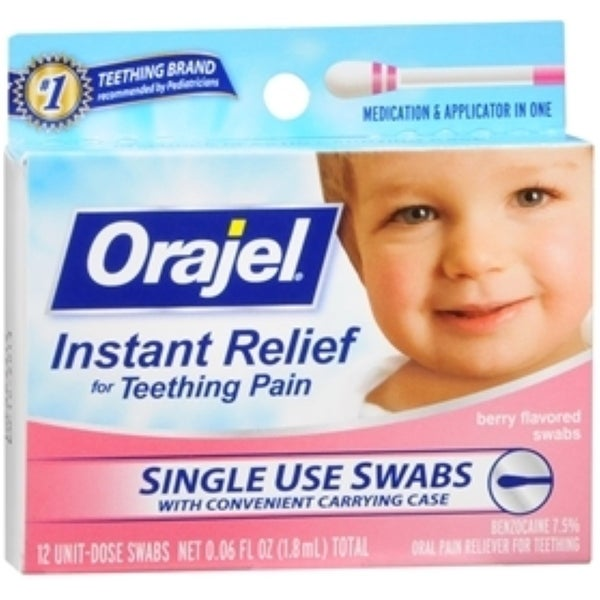 Baby Orajel Fast Teething Pain Relief Teething Swabs Berry 12 Each