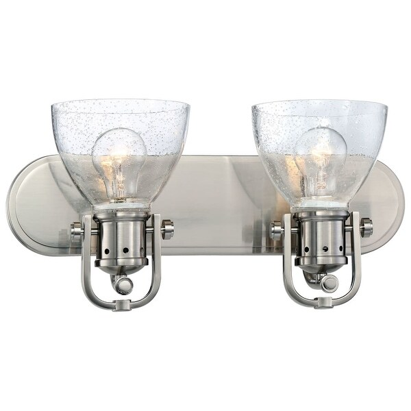 Minka Lavery 3412-84 2 Light Vanity Light from the Seeded Bath Art Collection - Brushed nickel