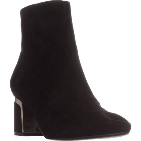 DKNY Corrie Ankle Boots, Black Suede