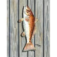 Carolines Treasures 8489GF 11 x 15 in. Fish Red Fish Flag Garden Size
