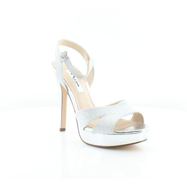 Nina Shara Women's Sandals Silver Glitter