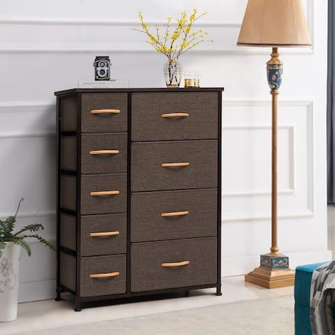 Vertical Dresser Storage Tower 9-drawer Chest Organizer Unit for Home