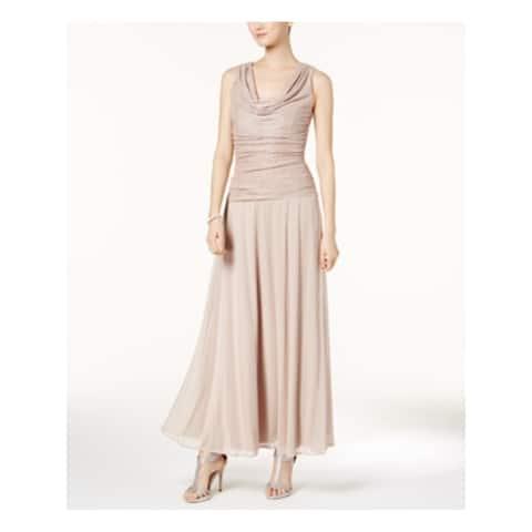 R&M RICHARDS Womens Pink Sleeveless Maxi Sheath Formal Dress Size 6