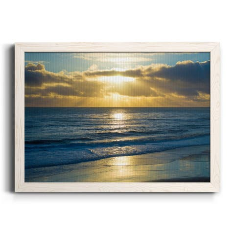 Beach Sunset Surfers-Premium Framed Canvas - Ready to Hang