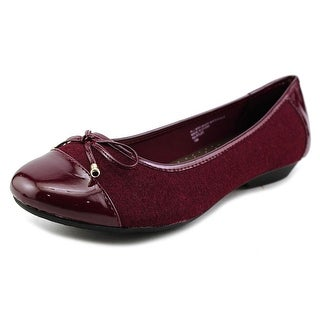 Karen Scott Rylee Women Cap Toe Canvas Purple Flats