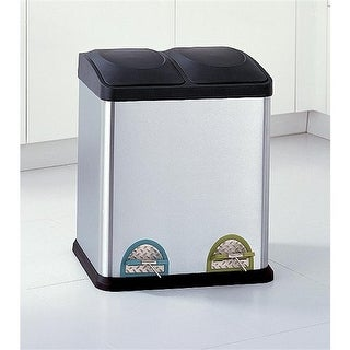 Organize It All 4902 Two Compartment Step-On Recycling Bin in