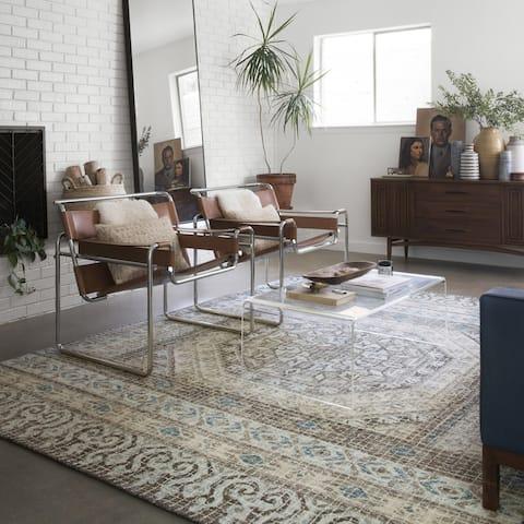Alexander Home Nile Mosaic 100% Wool Hand Hooked Rug
