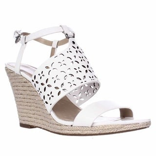 MICHAEL Michael Kors Darci Wedge Sandals, Optic White
