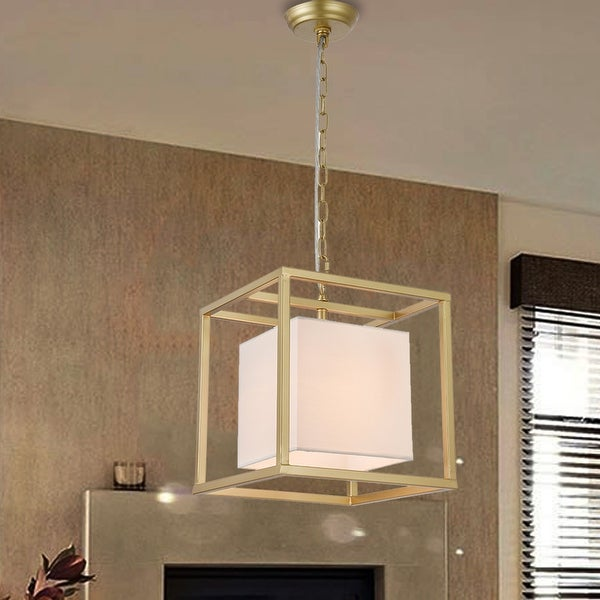 Lussa 1-Light Square Gold 12-Inch Pendant. Opens flyout.