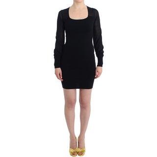 GF Ferre GF Ferre Black Longsleeved Knitted Sweater Dress - XS