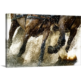 """Running horses"" Canvas Wall Art"