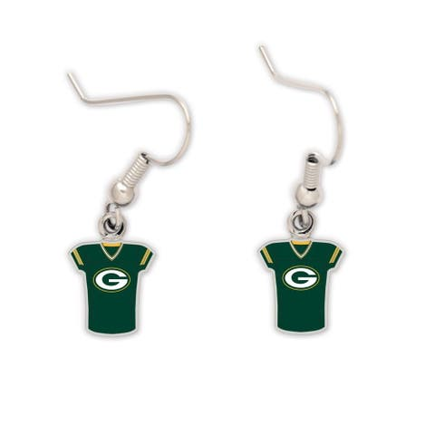 Green Bay Packers Jersey Earrings