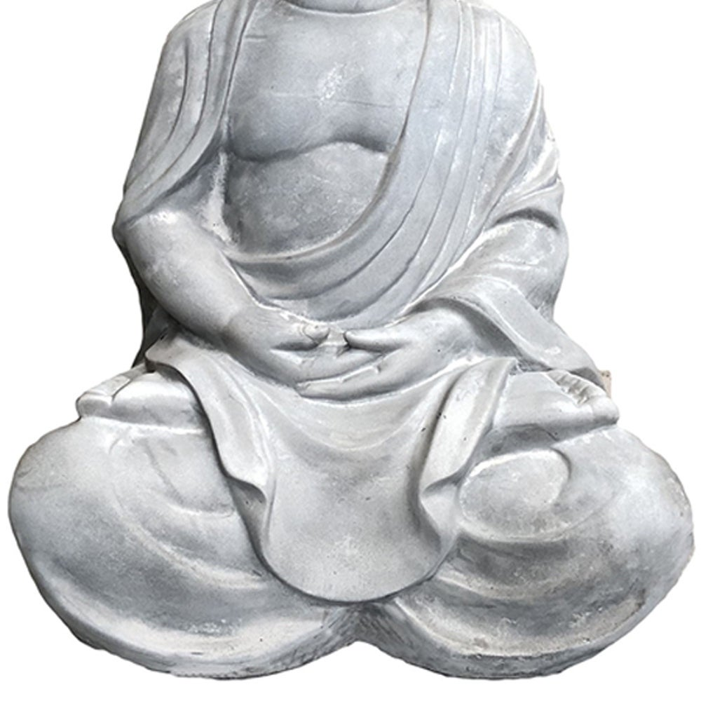 25 6 In H Lightweight Concrete Sitting Meditating Buddha Statues Overstock 29737597