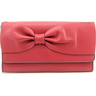 French Connection Olivia Clutch Synthetic Clutch - Red|https://ak1.ostkcdn.com/images/products/is/images/direct/3e712e8644838c3f9936161d707c6b38754349f6/French-Connection-Olivia-Clutch-Women-Synthetic-Burgundy-Clutch.jpg?impolicy=medium