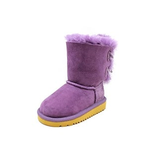 Ugg Australia Bailey Bow Round Toe Leather Winter Boot