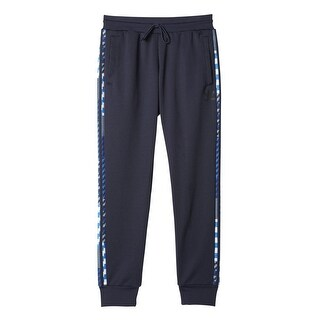 Adidas NEW Navy Blue Mens Size XL Pull-On Printed Striped Track Pants