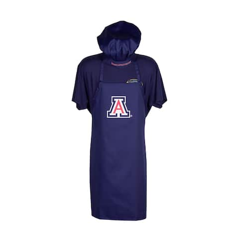 arizona wildcats chef hat/apron set blue