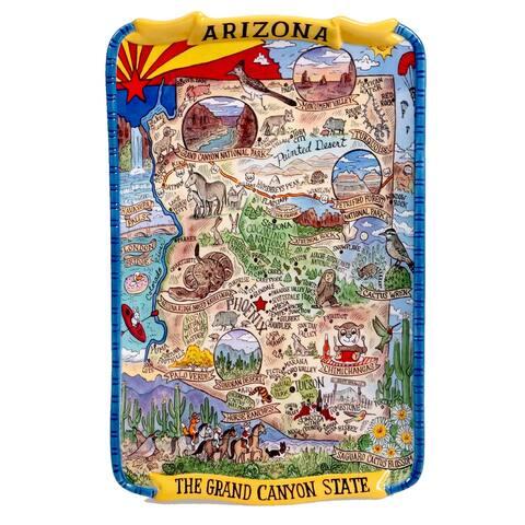 Certified International Arizona Souvenir Rectangular Platter