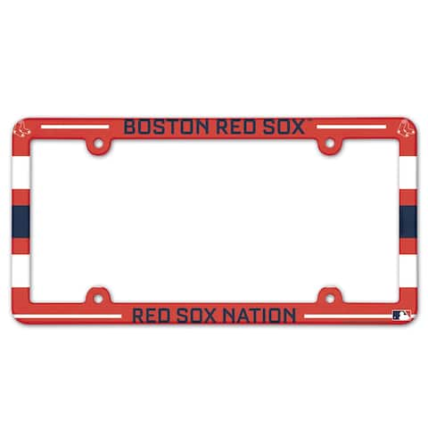 Boston Red Sox License Plate Frame Plastic Full Color Style
