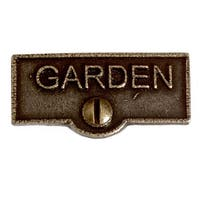 Switch Plate Tags GARDEN Name Signs Labels Cast Brass