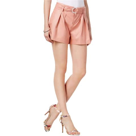 Guess Womens Hex Belted Faux-Leather Casual Mini Shorts