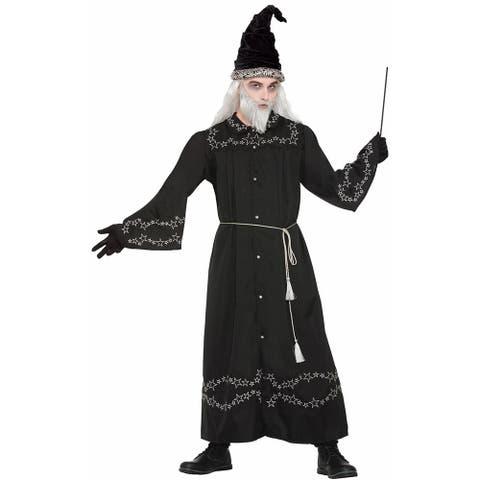Adult Wizard Robe Halloween Costume - Standard - One Size