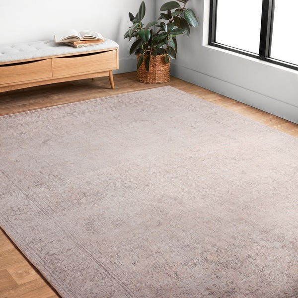 Alexander Home Tremezzina Printed Floral Distressed Shabby-Chic Rug. Opens flyout.