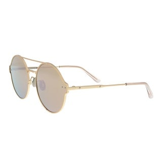 Bottega Veneta BV0141S 004 Gold Aviator Sunglasses